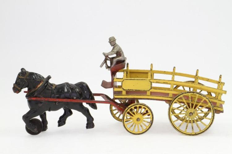Horse Drawn Cast Iron Dray Wagon