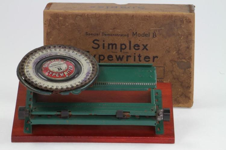Simplex Typewriter Toy with Box