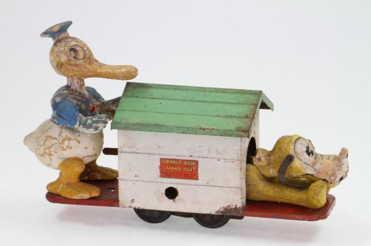 Lionel Donald Duck and Pluto Handcar