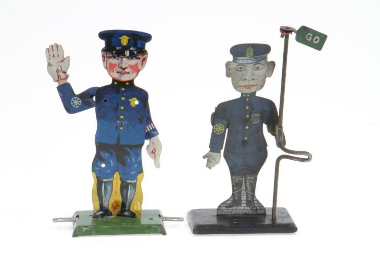 Lot of (2) Traffic Cops with Animated Arm