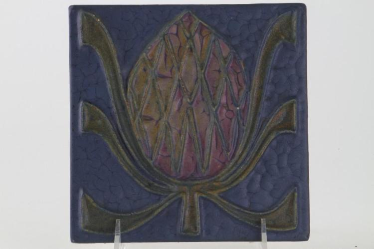 ROOKWOOD FAIENCE THISTLE TILE