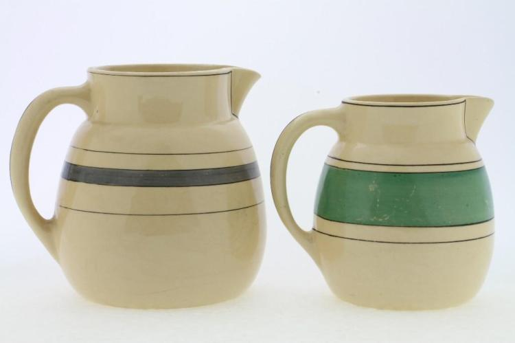 TWO ROSEVILLE POTTERY PITCHERS