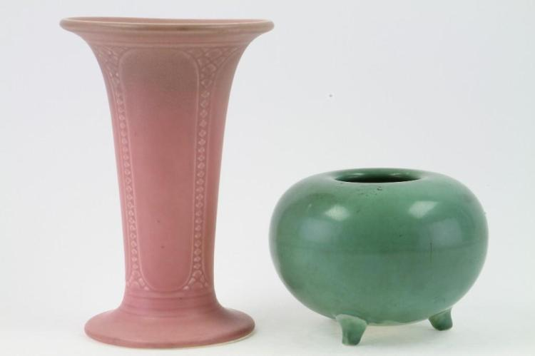ROOKWOOD POTTERY BOWL AND VASE, 1921 & 1930