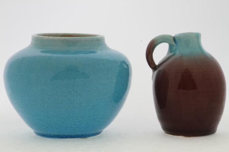 PISGAH FOREST POTTERY BOWL & JUG