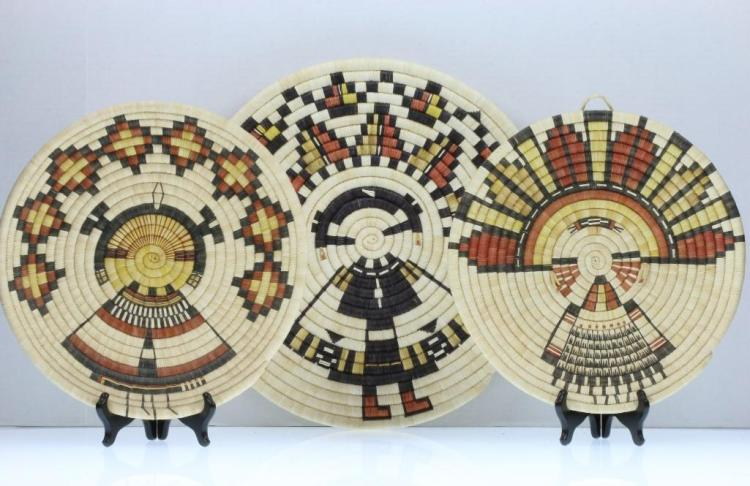 Three Hopi pictorial plaques