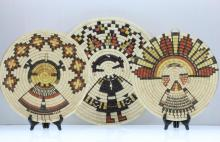Three Hopi pictorial plaques
