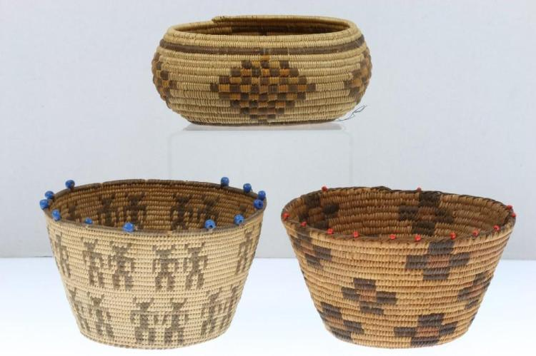 Three Southwest baskets
