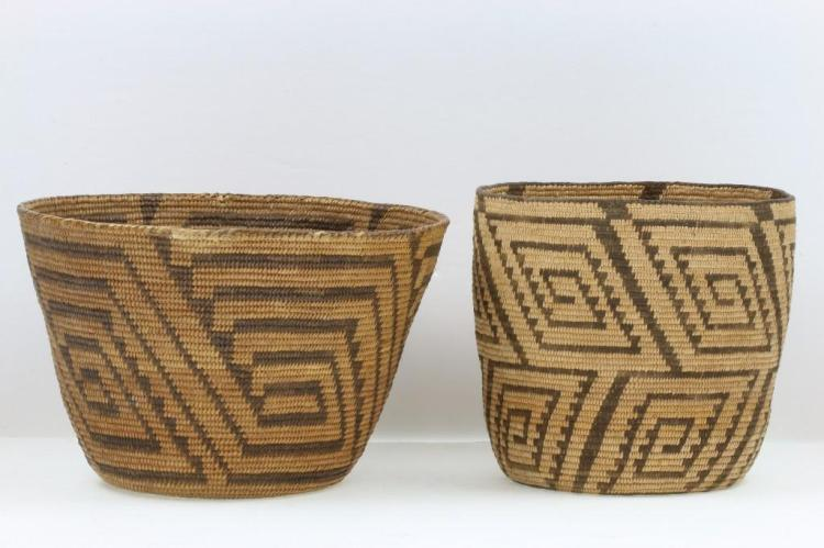 Two Pima baskets