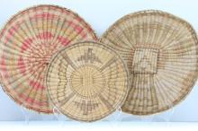 Three Hopi wicker plaques