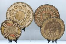 Four Hopi wicker plaques