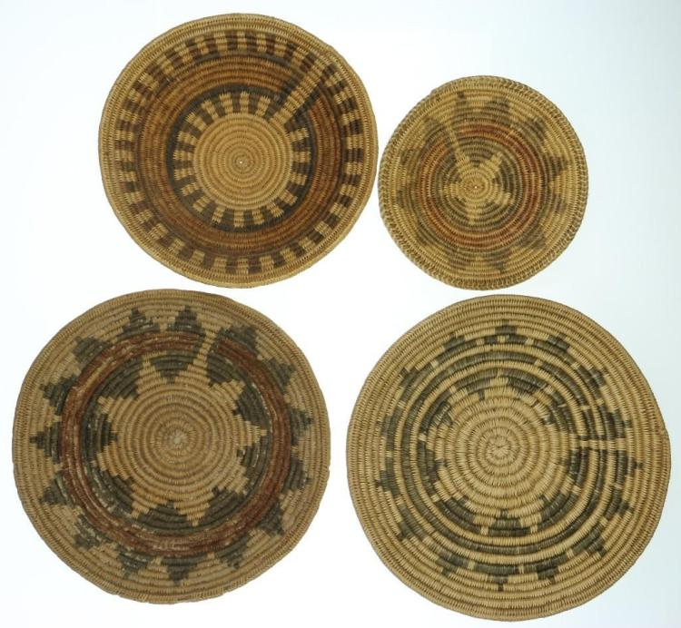 Four Navajo ceremonial trays