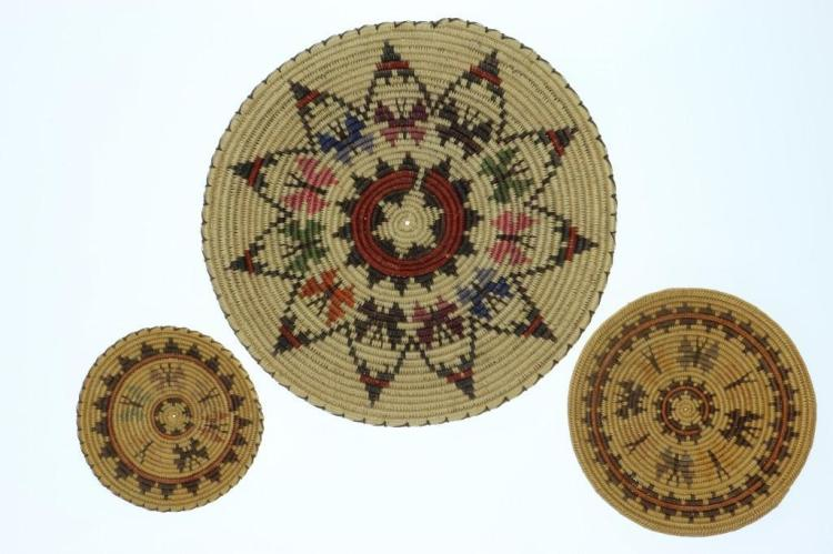 Three Navajo butterfly trays