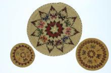 Three Navajo butterfly trays