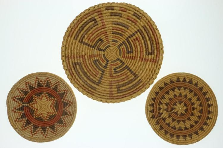 Three Navajo trays