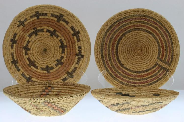 Four Navajo trays