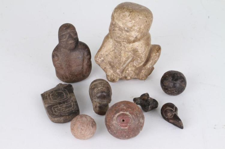Group of ancient Mesoamerican items