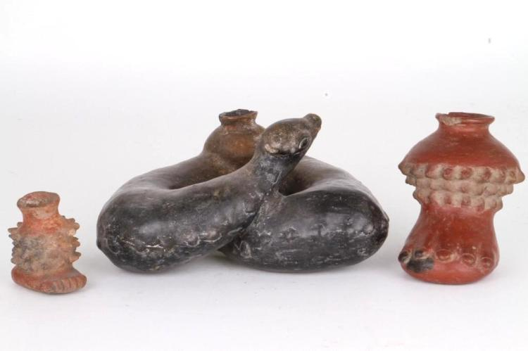 Three West Mexican effigy vessels