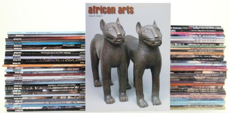 Sixty-nine issues of African Arts magazine