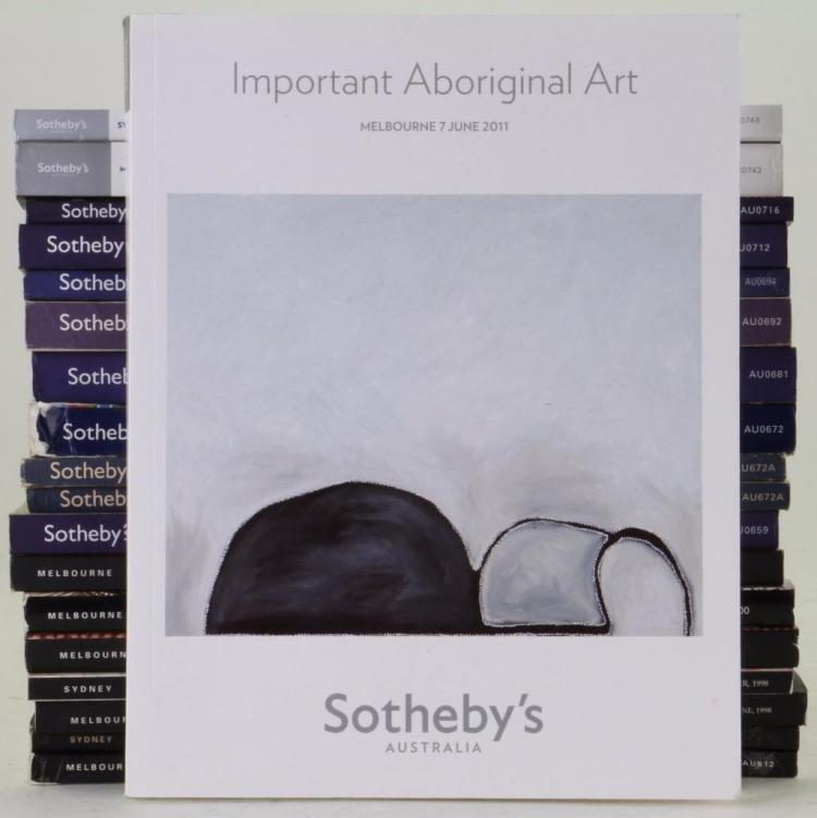 Nineteen Sotheby's Aboriginal art auction catalogues: M