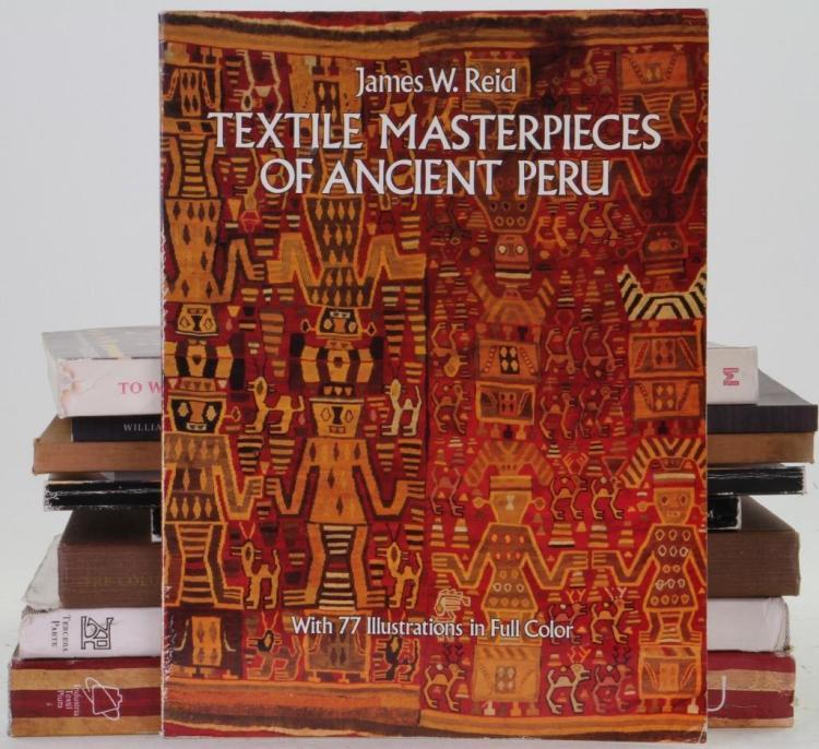 Ten books on pre-Columbian Peruvian textiles