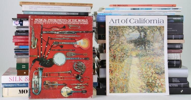 Forty-seven assorted books, journals and auction catalo