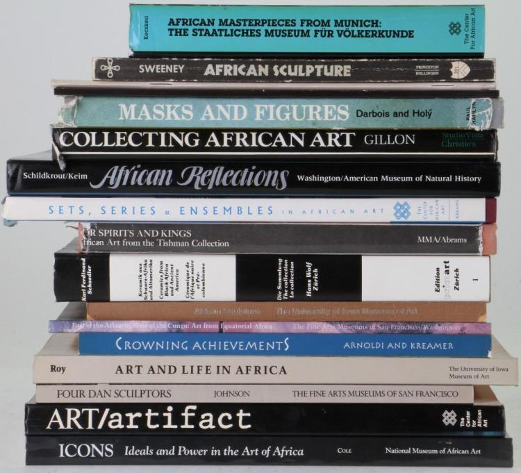 Sixteen books on African art