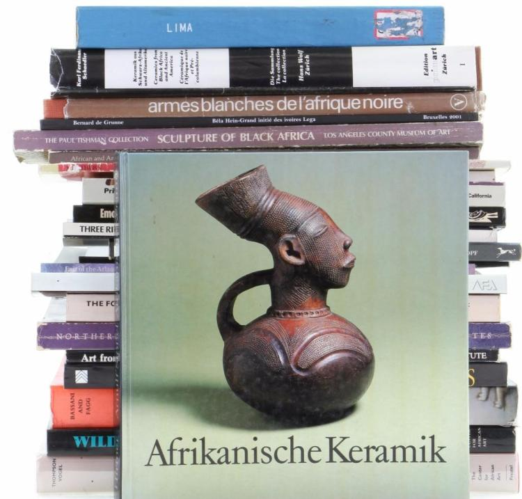 Twenty-three books on African art