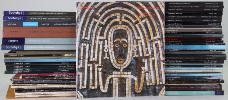 Sixty-one Sotheby's Tribal Art auction catalogues