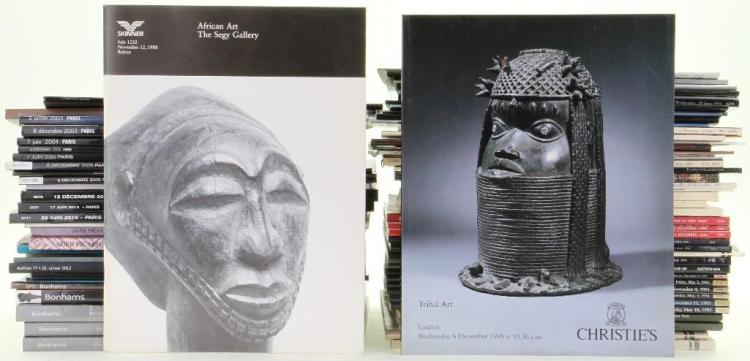 Seventy-six Tribal Art auction catalogues: Christie's,