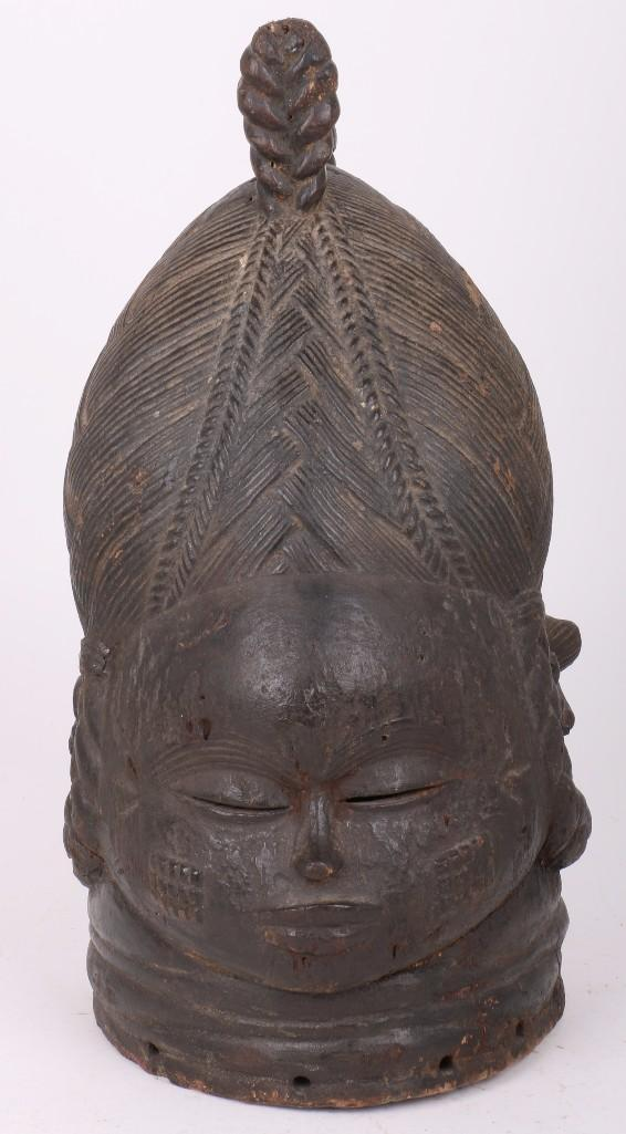 A Mende helmet mask, Sierra Leone