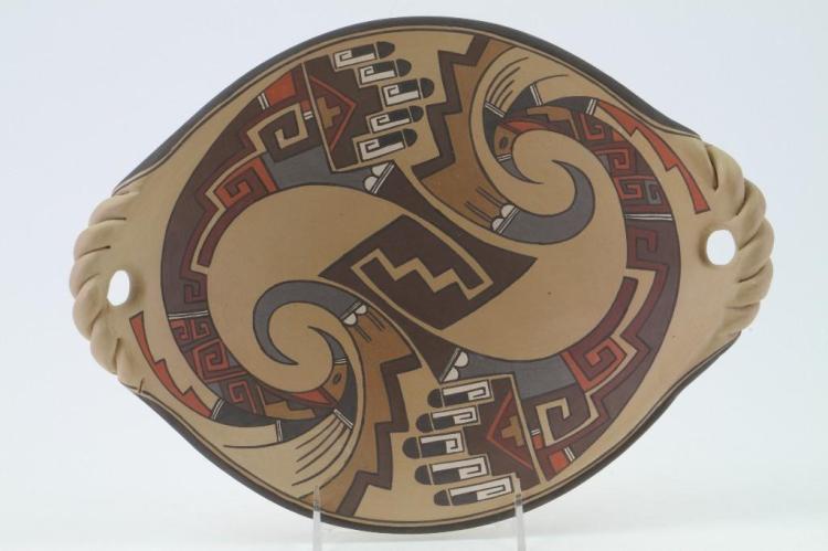 Santa Clara polychrome oval platter