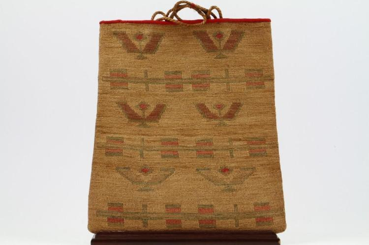 Plateau pictorial cornhusk bag