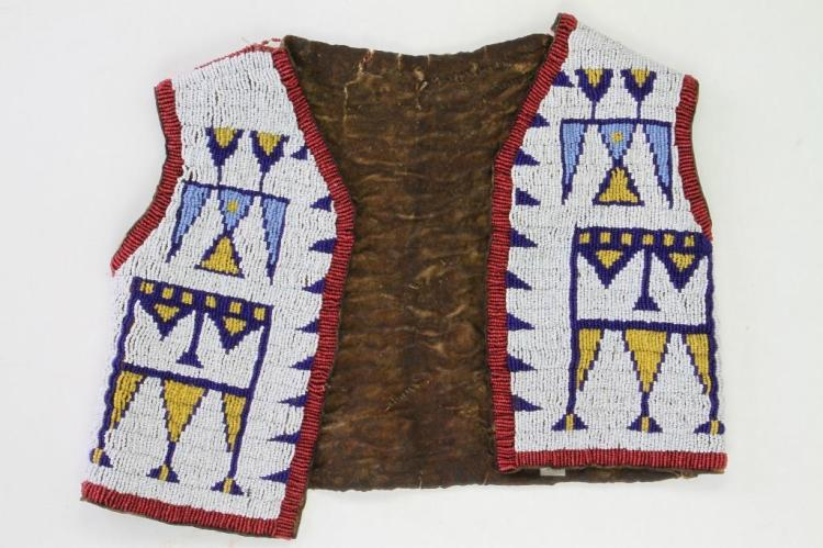 Sioux beaded boy's vest