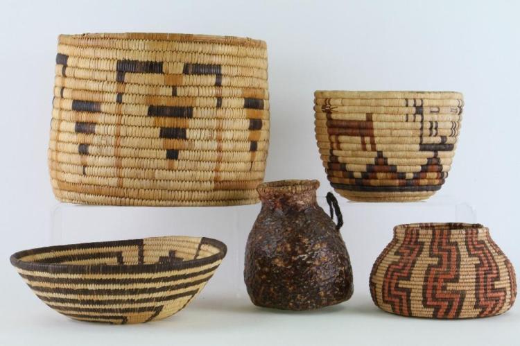 Five Southwest baskets