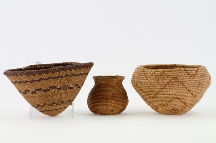 Three Western baskets