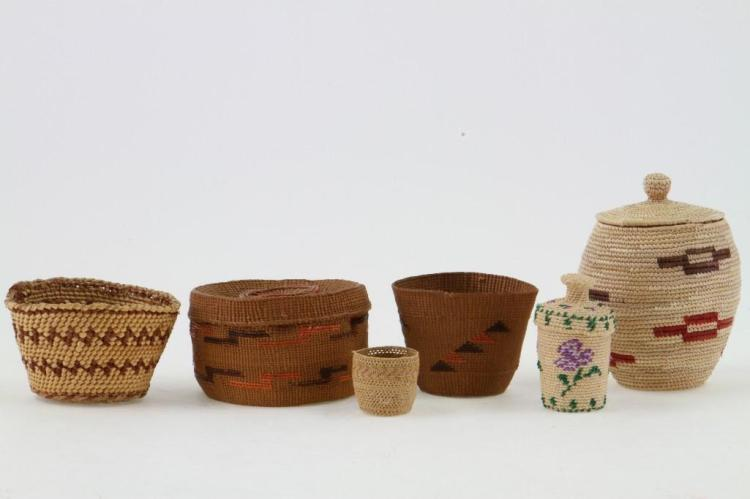 Six Northwest baskets