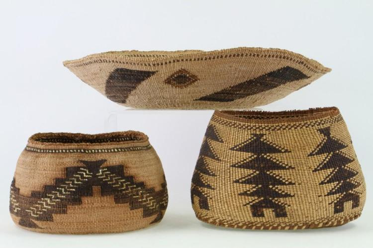 Three Northeast California baskets