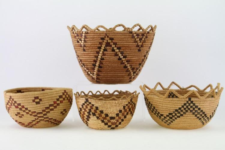 Four Columbia River baskets