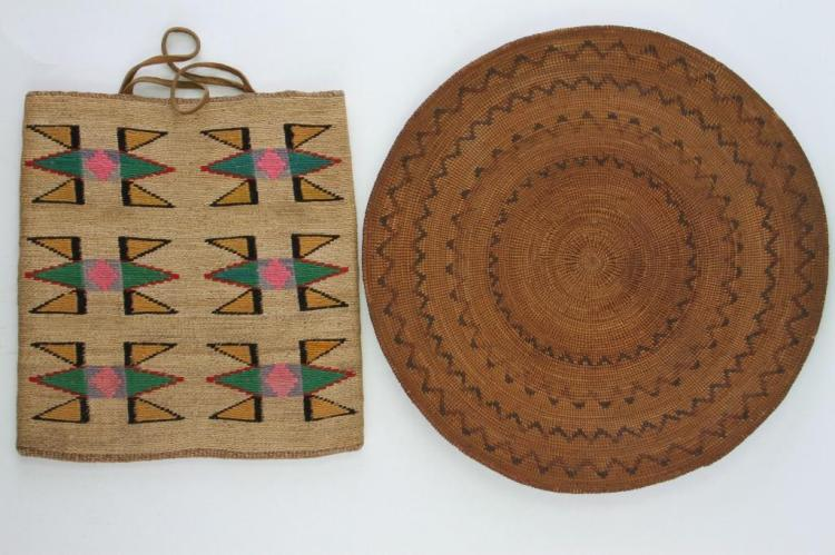 Two Western basketry items