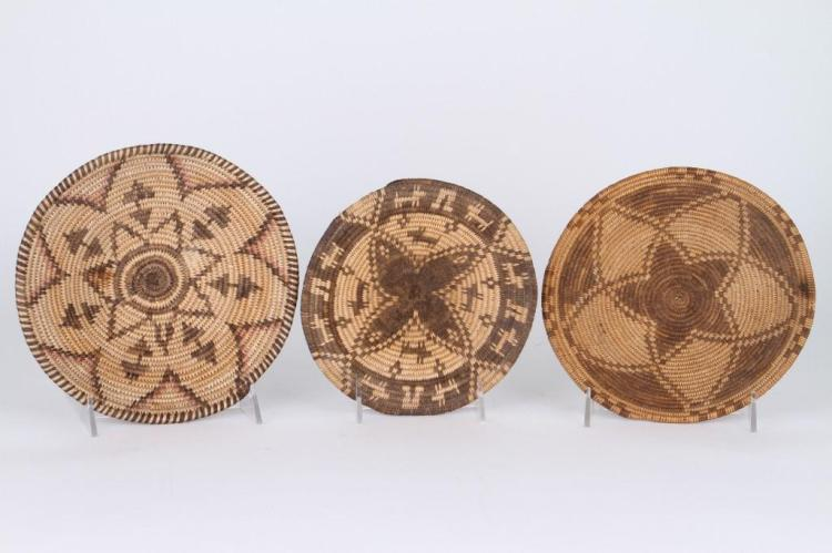 Three Apache or Yavapai trays