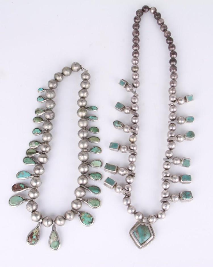 Two Navajo-style necklaces