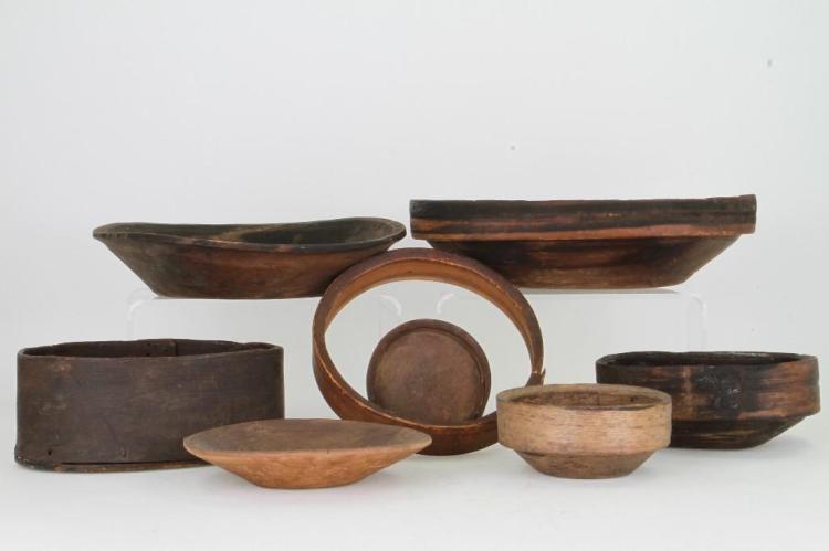 Seven historic Eskimo vessels