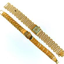 Two 14k gold wristwatches