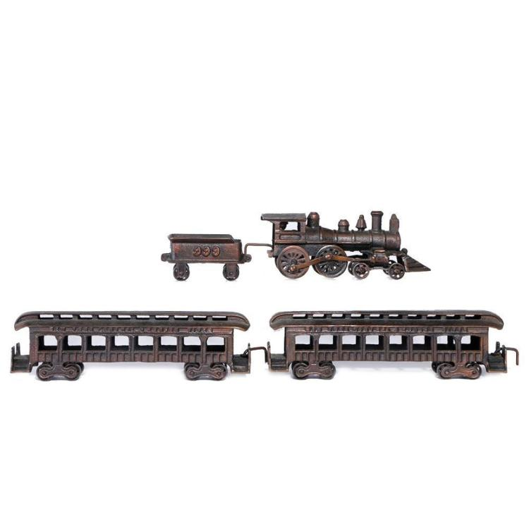 """Nycrr Cast Iron Train: Cast Iron #1 Gauge Size NYC&HRR """"999"""" Floor Toy Train"""