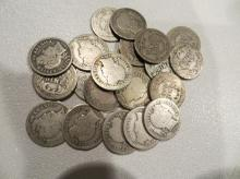 Lot of 20 Barber Dimes
