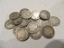 Lot of 20 VG Barber Dimes
