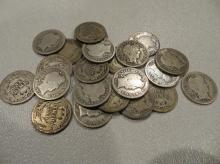Lot of 20 VG or Better Barber Dimes