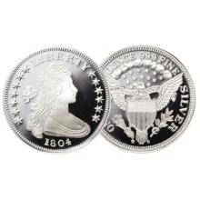 1804 Flowing Hair Silver Bullion Round 1 oz.