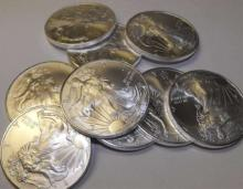 (20) US SIlver Eagle Bullion Coins