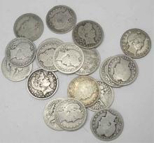 Lot of (20) Barber Quarters- Circulated